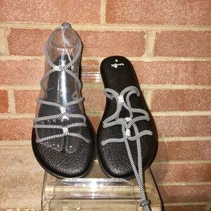 Snauk Woman's Yoga Mat Sunrise Black Size 6 Sandal